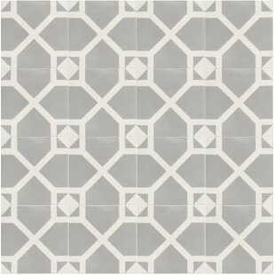 Amoud 8 X Handmade Cement Tile In Gray White