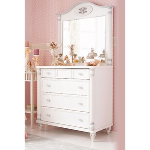 Riya 4 Drawer Chest with Mirror by Harriet Bee