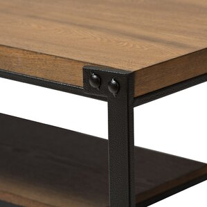 Baxton Studio Gibson Coffee Table with Magazine Rack by Wholesale Interiors