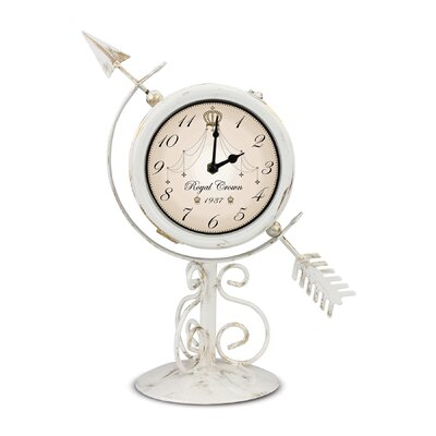 Pinebush Home & Garden Royal Sundial Tabletop Clock and Thermometer