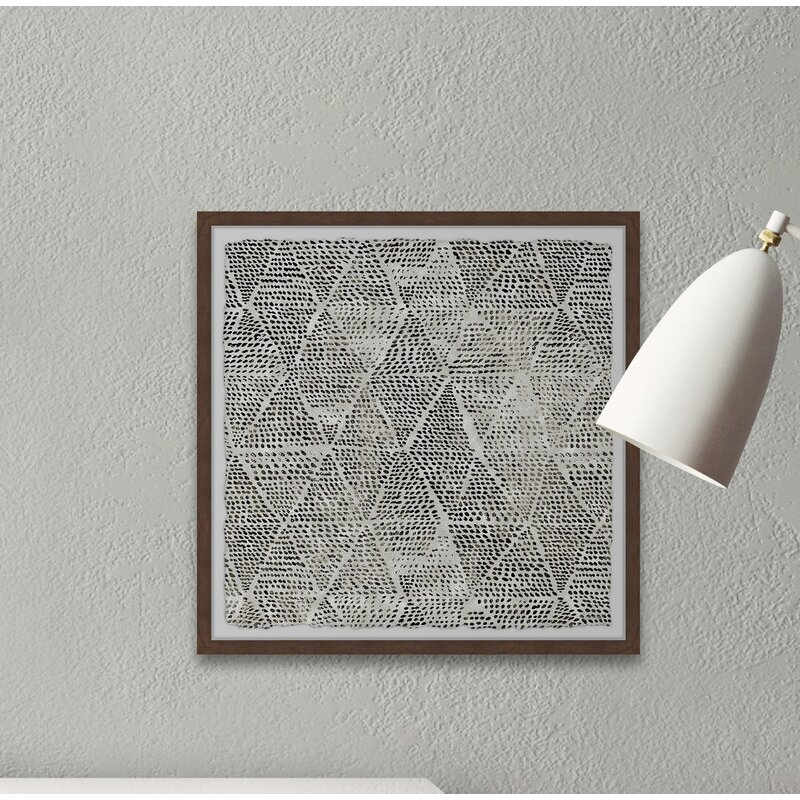 Geometric Wall Decorations - 'Black Triangles' - Picture Frame Painting Print on Paper