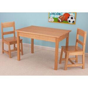 Kids 3 Piece Wood Table U0026 Chair Set