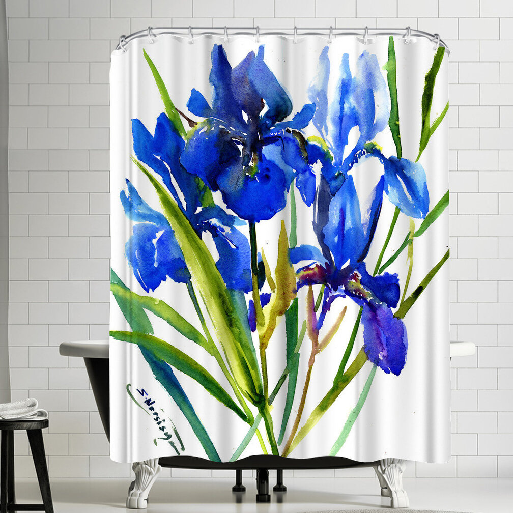 East Urban Home Suren Nersisyan Irises Single Shower Curtain Wayfair