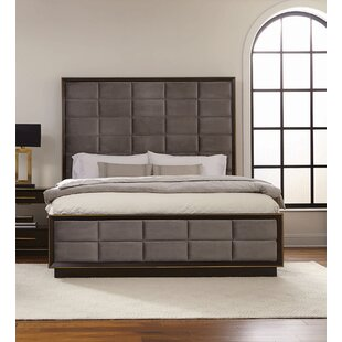 Teme Upholstered Panel Bed