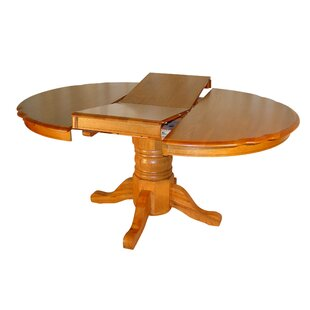 Tyrell Solid Oak Butterfly Extendable Solid Wood Dining Table Red Barrel Studio
