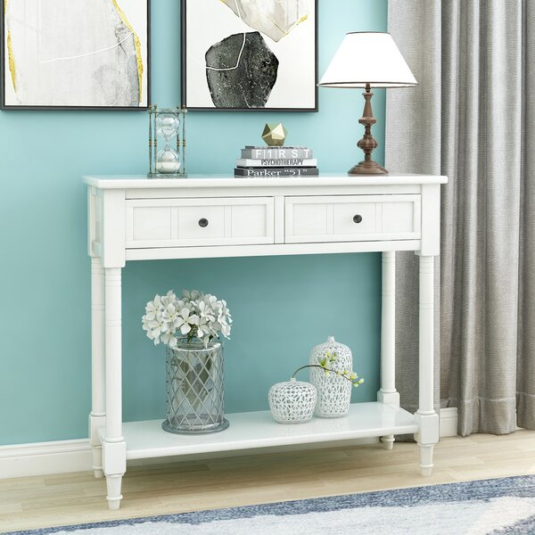 Rosecliff Heights Mcfalls 35 43 Solid Wood Console Table Reviews Wayfair