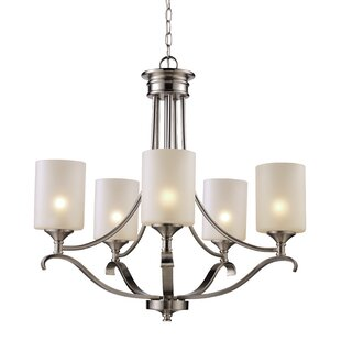 Alcott Hill Glenshaw 5-Light Shaded Chandelier