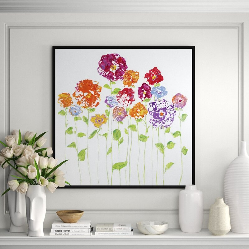 Jbass Grand Gallery Collection Pretty Posies I Framed Print On Canvas Perigold