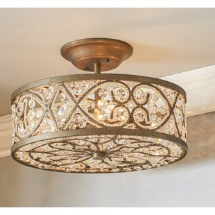 Lark Manor Manigault 4-Light Semi Flush Mount