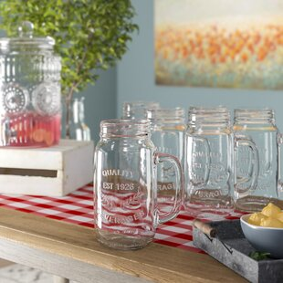 Mannford 22 oz. Mason Jar Mug (Set of 6)