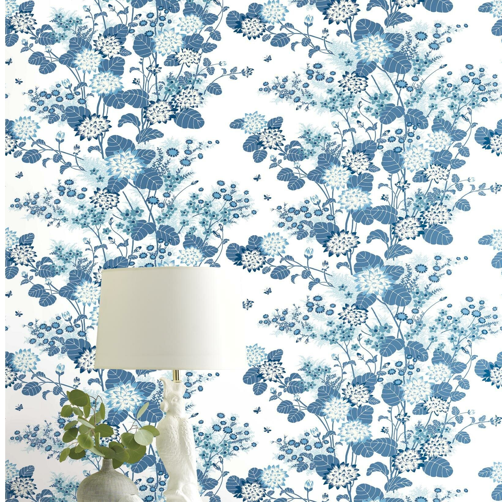 York Wallcoverings Chinese Floral 27 L X 27 W Wallpaper Roll