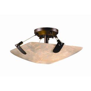 Brayden Studio Miguelangel 2-Light Semi Flush Mount