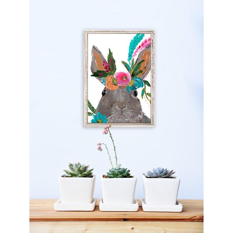 Trinx Casey Boho Hare Mini Framed Art Reviews Wayfair