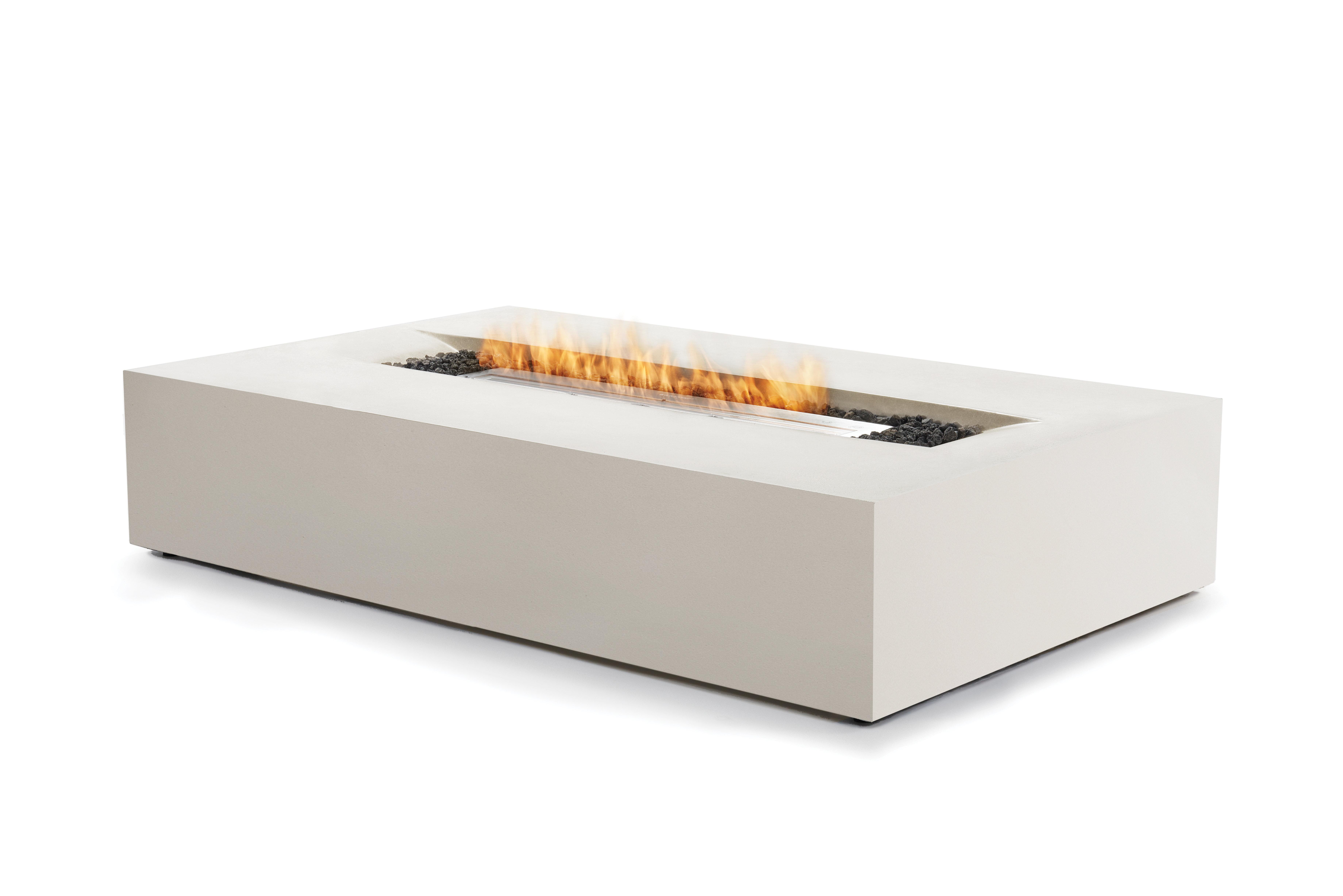 Bjfs Flo Concrete Bio Ethanol Fuel Fire Pit Table Wayfair