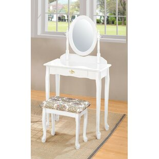 Pandora Vanity Set with Mirror by A&J Homes Studio
