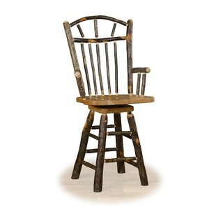 Wedemeyer Wagon Wheel 24 Swivel Bar Stool