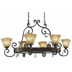 sharlene chandelier pot rack with 8 light