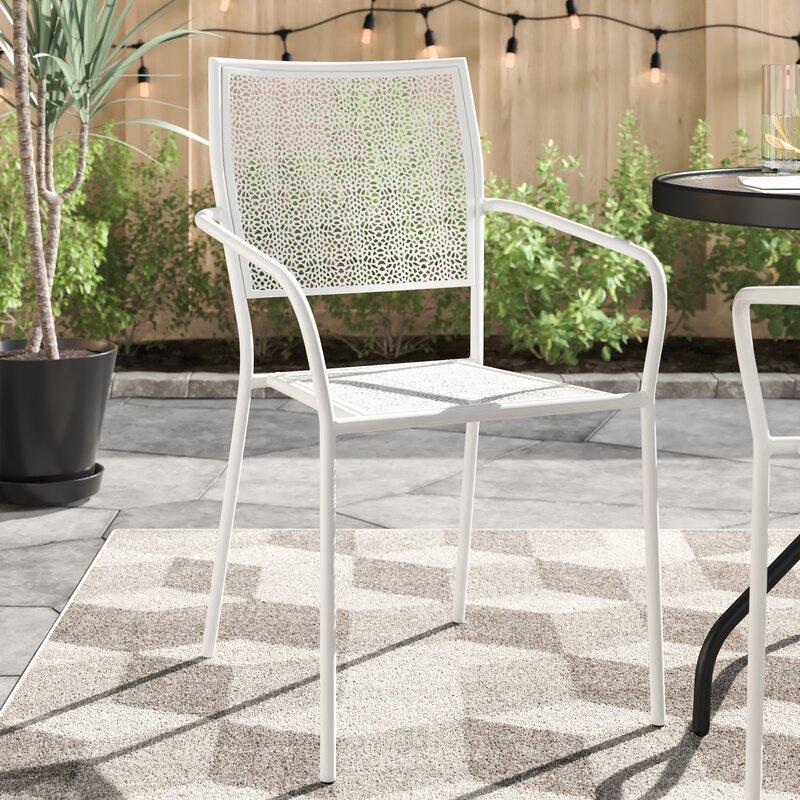 Zipcode Design™ Karoline Stacking Patio Dining Chair & Reviews   Wayfair