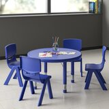 "5 Piece Circular Activity Table & 20"" H Chair Set"