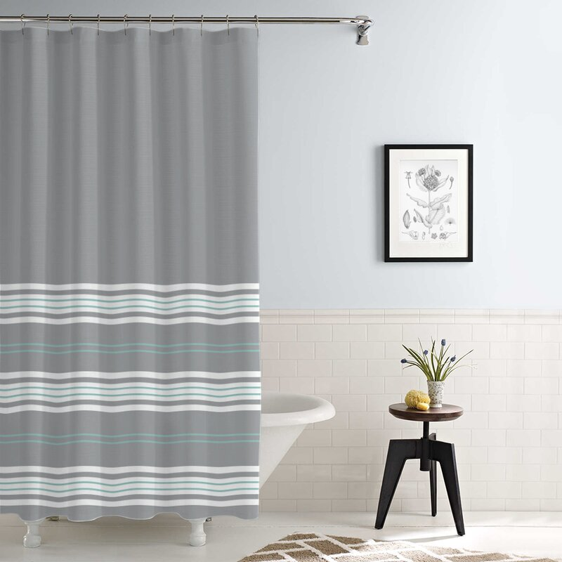 Kimora Waterproof Printed Shower Curtain Set