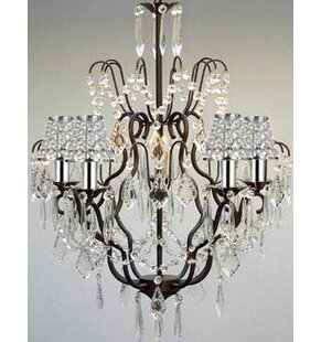 Clemence 5-Light Chain Crystal Chandelier by Rosdorf Park