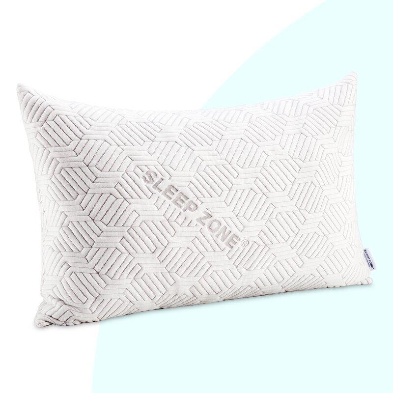 1 PACK Queen Hot Bamboo Pillow Memory Foam Hypoallergenic Cool Comfort NEW A1
