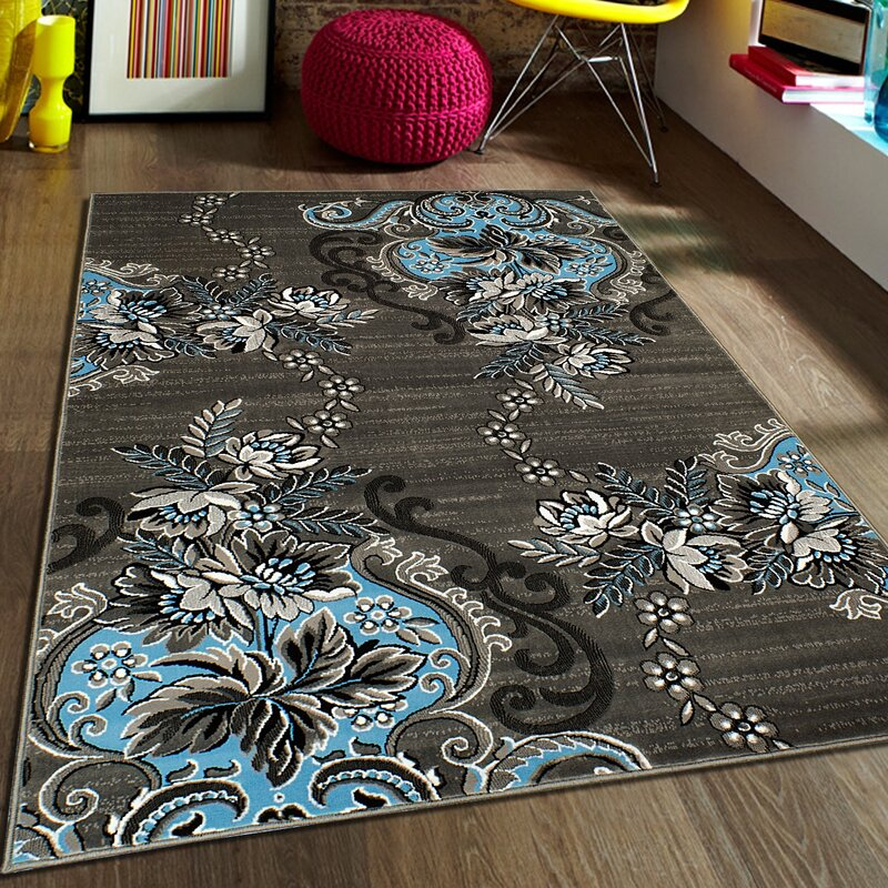 Blue Gray Area Rug