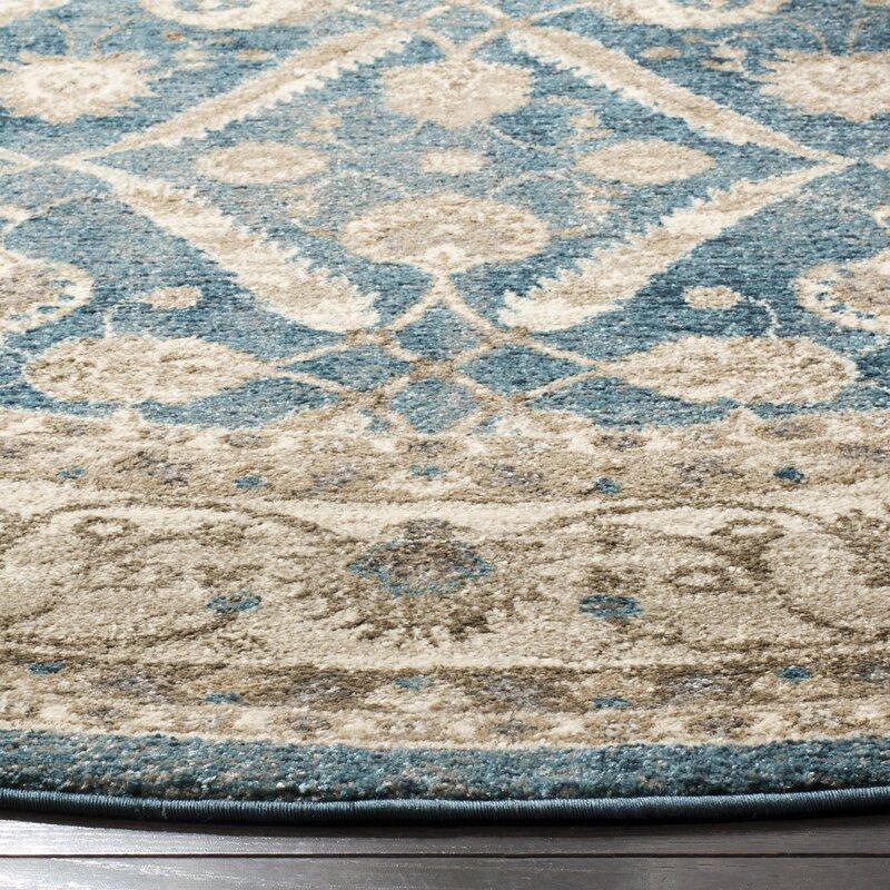 Three Posts Statham Oriental Blue Beige Area Rug Reviews Wayfair