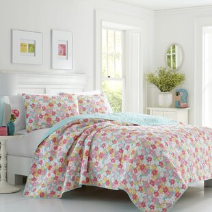 Funke Floral 100% Cotton Reversible Quilt Set