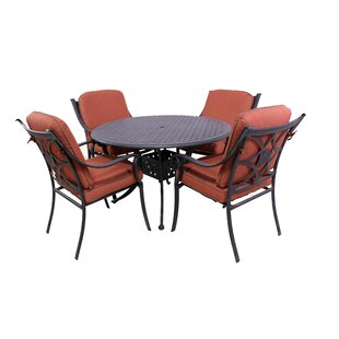 Sunderland 5 Piece Dining Set with Sunbrella Cushions