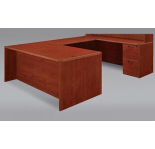 Fairplex Grommet Holes U-Shape Executive Desk by Flexsteel Contract Find