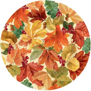 Autumn Elegant Leaves Paper Dinner (Set of 8)