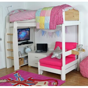 Jodi European Single L-Shaped Bunk Bed With Trundle And Drawers By Zoomie Kids