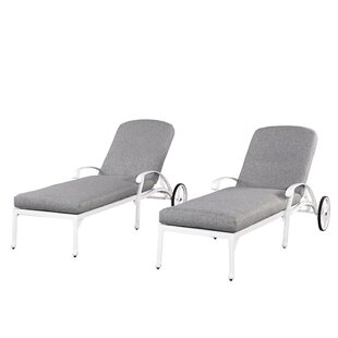 Home Styles Floral Blossom Chaise Lounge Chairs with Cushion (Set of 2)