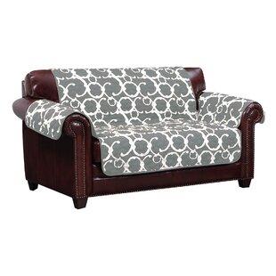 Margret Reversible Box Cushion Loveseat Slipcover By Winston Porter