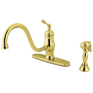 Kingston Brass Heritage Single Handle Kitchen Faucet with Side Spray