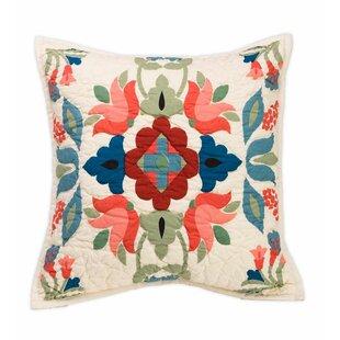 Ansley Folk Art 100% Cotton Throw Pillow