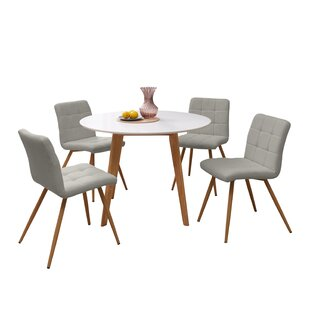 Elena 5 Piece Solid Wood Dining Set Wrought Studio