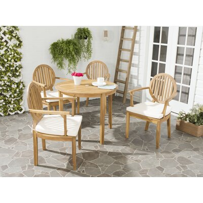 Chilhowee 5 Piece Dining Set With Cushions by Greyleigh Best