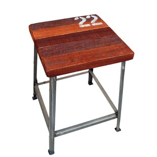 Metal and Tropical Wood Accent  Stool by Asian Art Imports