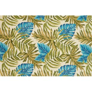 Monadnock Hand-Hooked Ivory/Green Indoor/Outdoor Area Rug