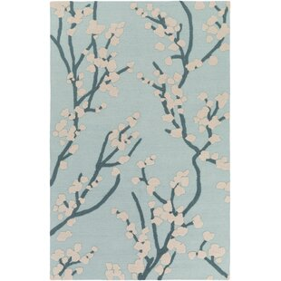 Find the perfect Dykstra Hand-Crafted Mint/Beige Area Rug By Charlton Home