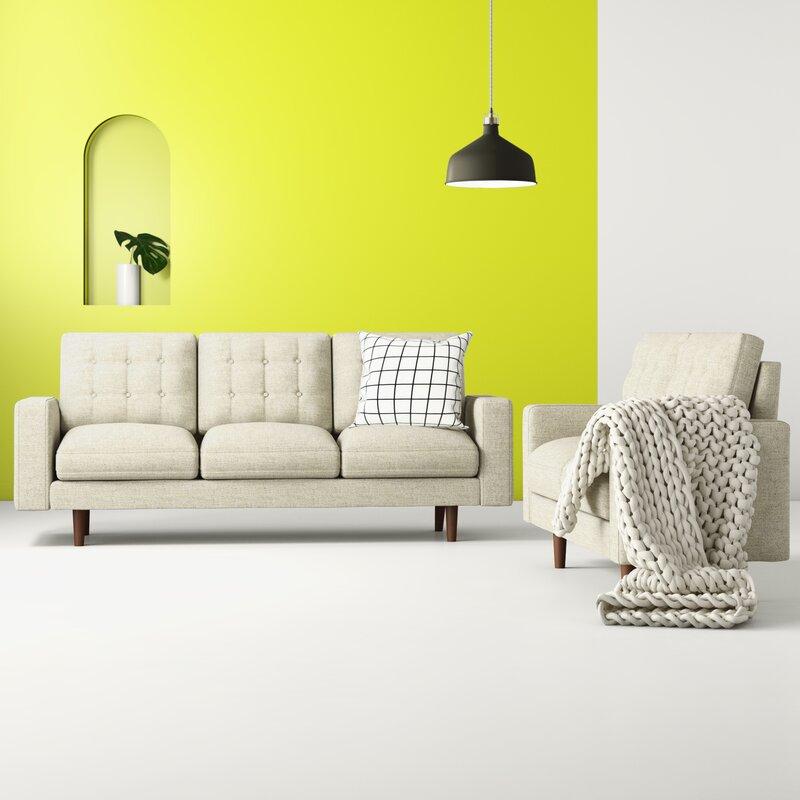 Hashtag Home Sanborn 2 Piece Standard Living Room Set Reviews Wayfair