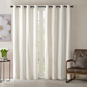 Carterton Solid Blackout Grommet Single Curtain Panel