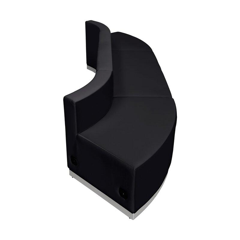 Orren Ellis Acord 3 Piece Leather Reception Set Wayfair