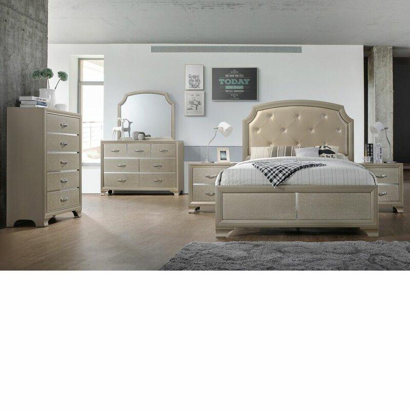 Mcphee Queen Panel 5 Piece Bedroom Set