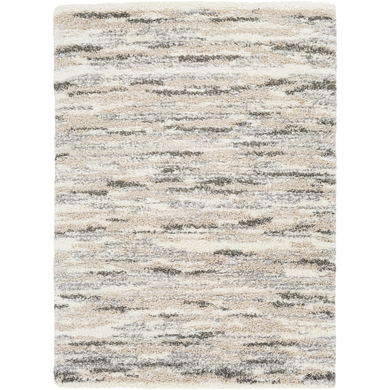 Ebern Designs Leona Abstract Gray Beige