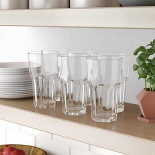 Cecille 23 oz. Acrylic Drinking Glass (Set of 6)
