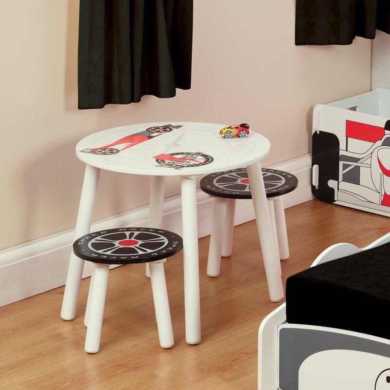 kidsaw 3 tlg kinder tisch und stuhl set speed racer. Black Bedroom Furniture Sets. Home Design Ideas