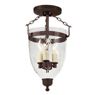 Breakwater Bay Pateros 3-Light Outdoor Semi Flush Mount